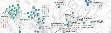 [Mapa] Estudis de Formació Professional al Vallès